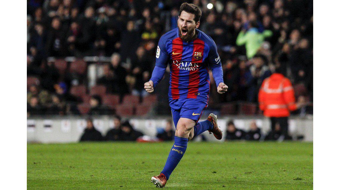 Con un golazo de Lionel Messi