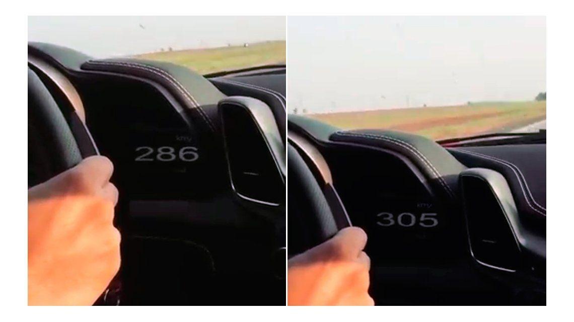La Ferrari circulaba por ruta 2