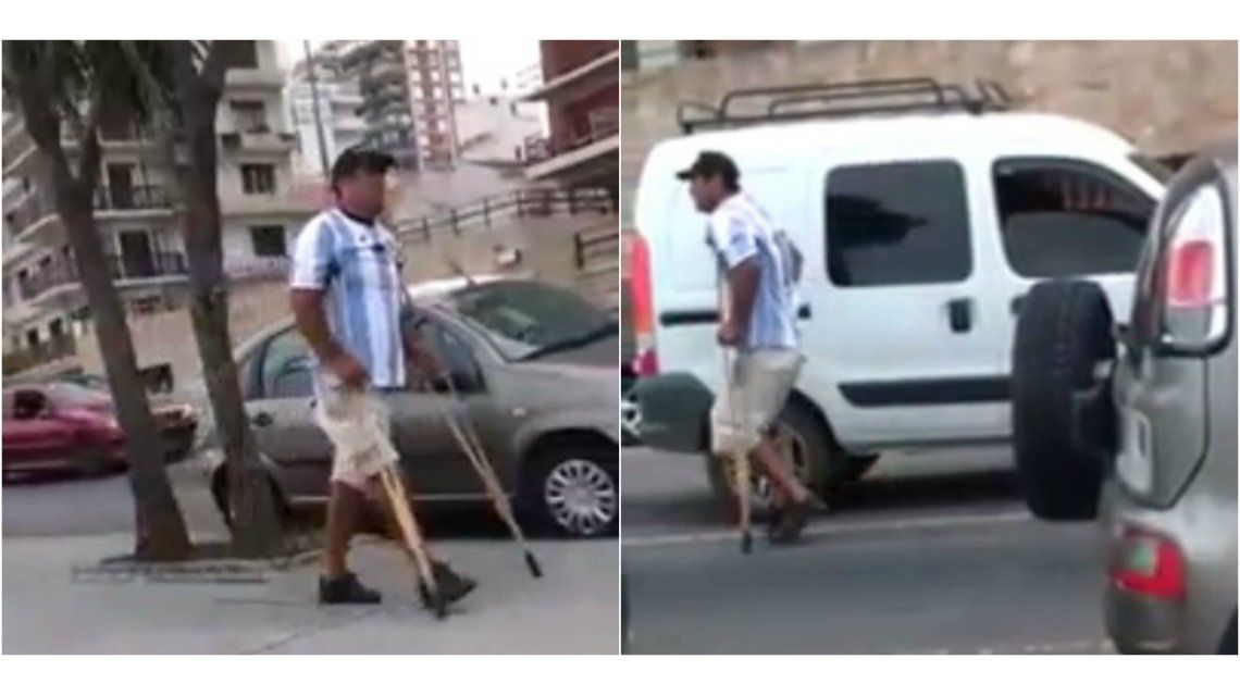 Mendigo se hace pasar por discapacitado