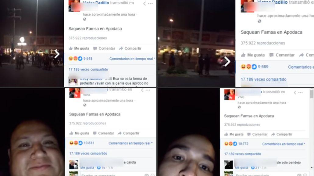 Dos ladrones robaron un celular y transmitieron todo por Facebook