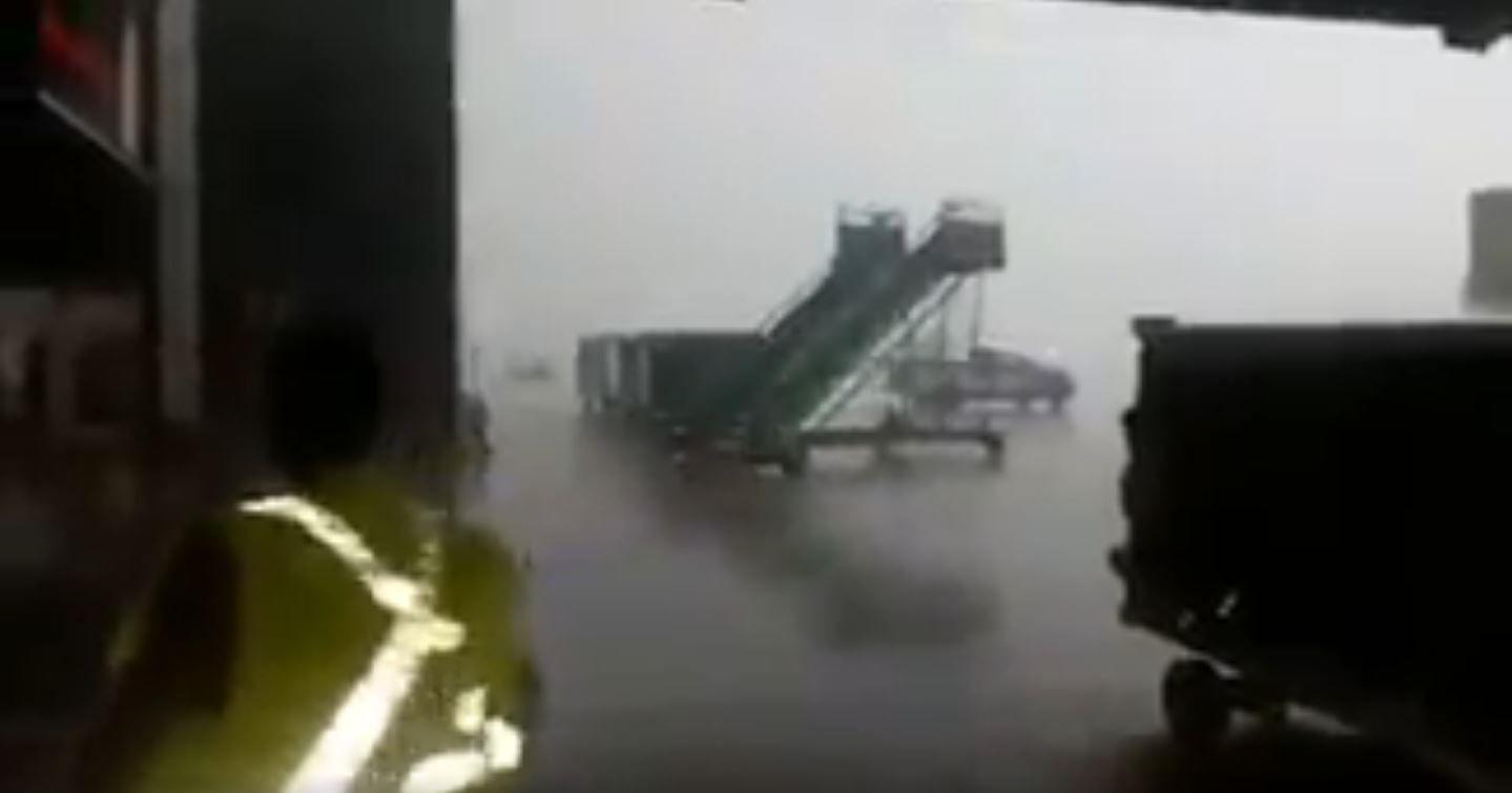 Así fue el temporal en Aeroparque