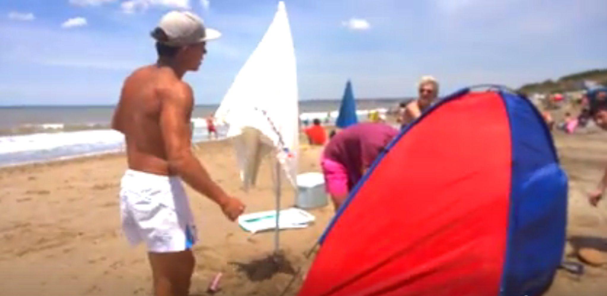 Quisieron echar a una familia de una playa pública