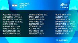 Argentina y Brasil compartirán grupo en el Sub 17