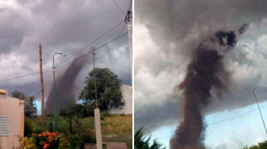 Impactante tornado causó pánico en San Luis
