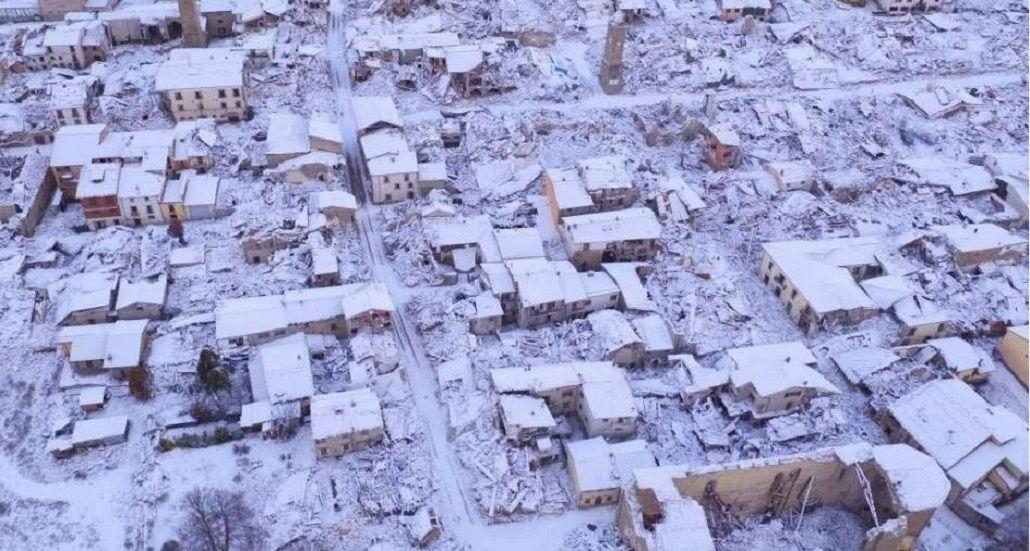 Nevó en el sur de Italia