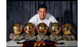 Messi y sus cinco Balones de Oro