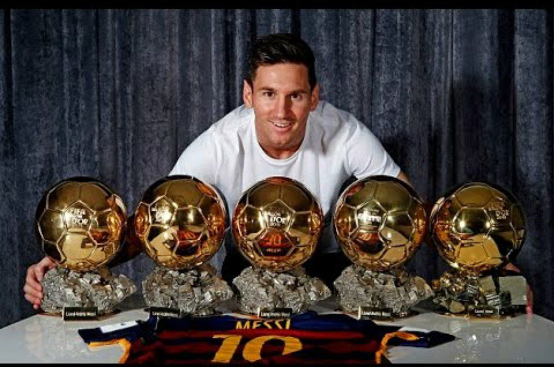 Messi y sus cinco Balones de Oro<br>