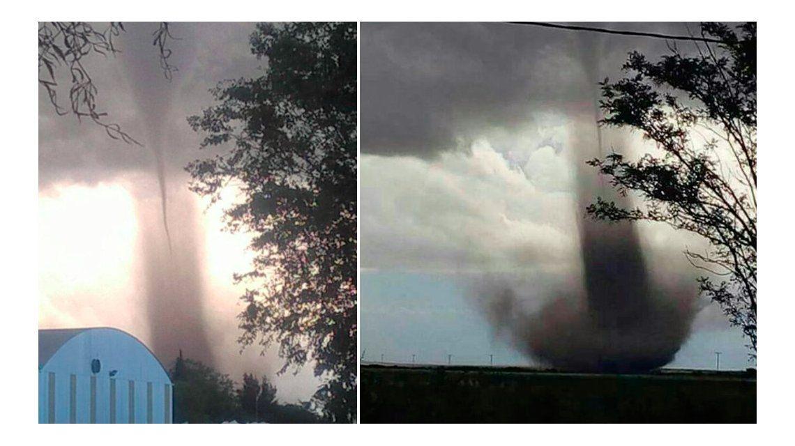 Un tornado causó pánico en San Luis