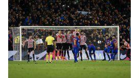 Con un golazo de Lionel Messi, el Barcelona pasó a cuartos