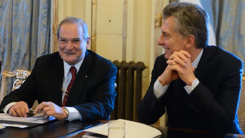 El ministro Jorge Lemus y Mauricio MAcri