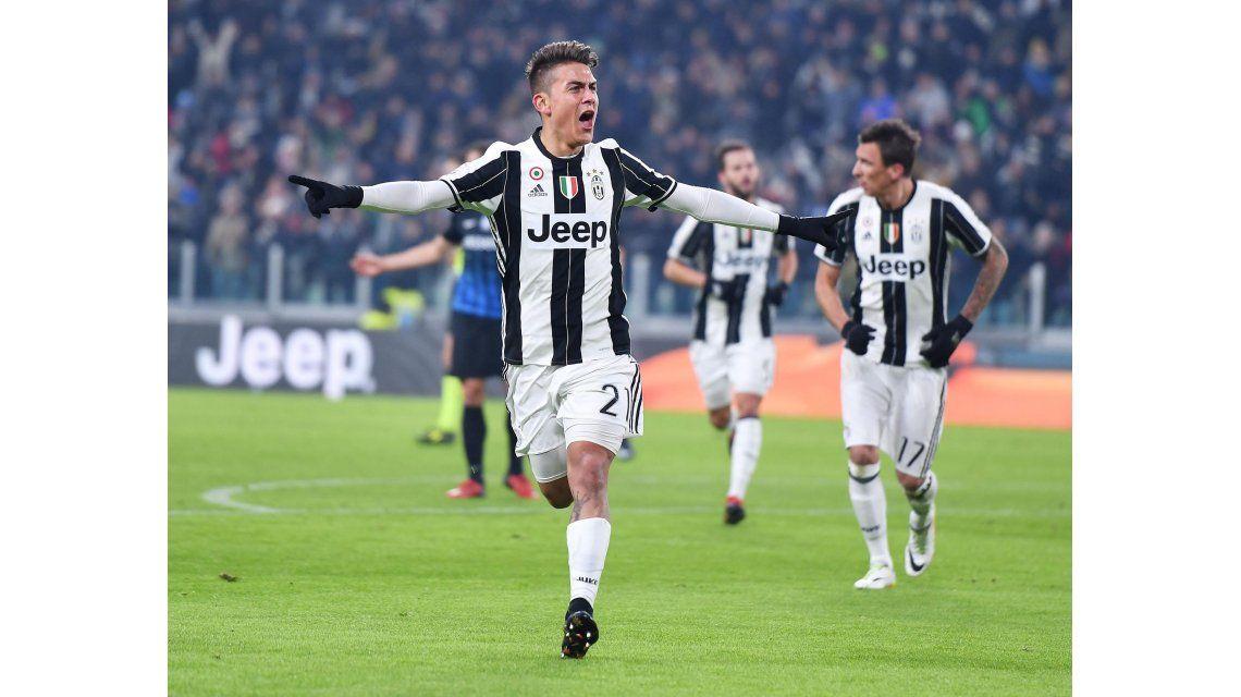 Paulo Dybala marcó un gol ante el Atalanta por la Copa de Italia