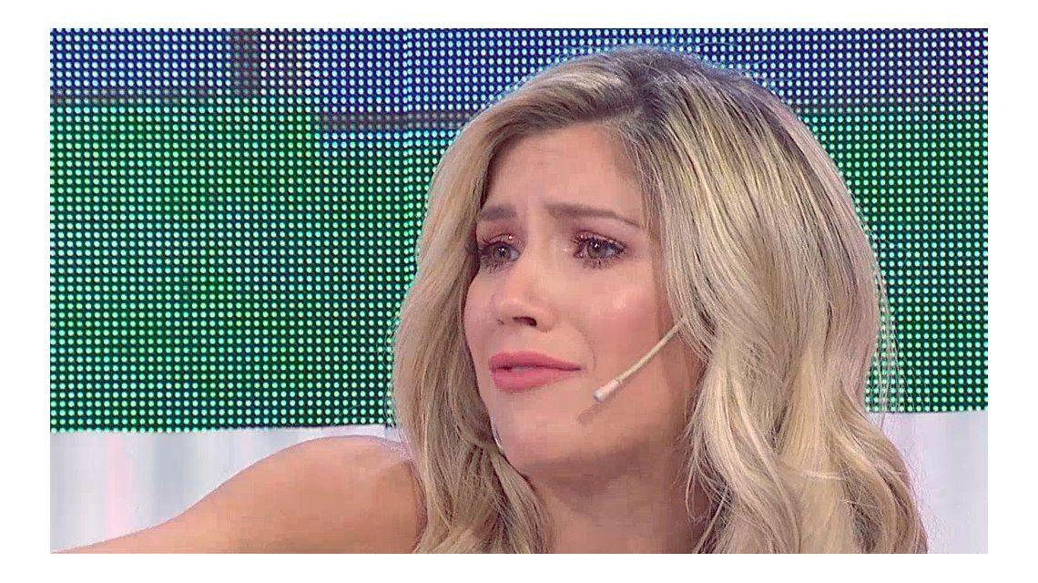 Laurita Fernández llorando
