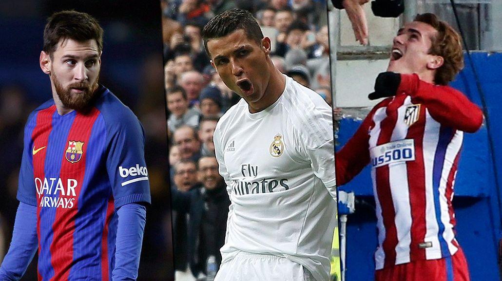 Los tres futbolistas actúan en la Liga de España