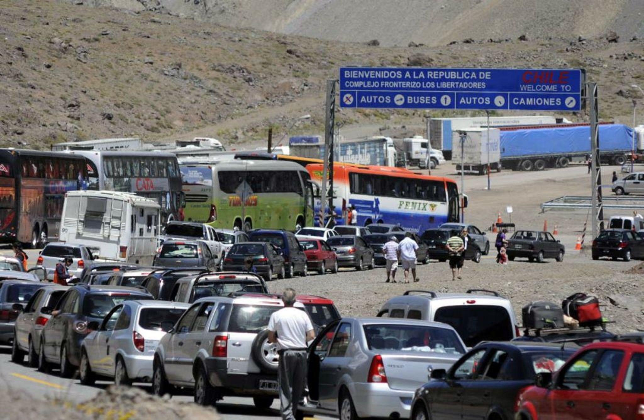 Demoras para cruzar a Chile