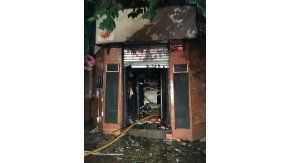 Incendio en un minimercado de Villa Crespo