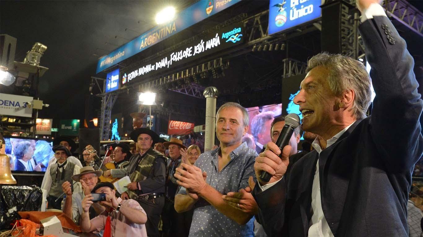 Mauricio Macri en el Festival Nacional de Doma y Folklore de Jesús María