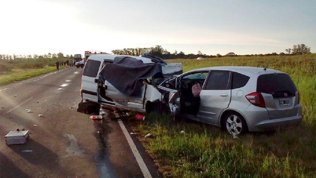 Cuatro muertos por un choque en la ruta nacional 18 - Crédito: www.elonce.com