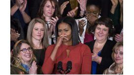 Michelle Obama se mostró al natural