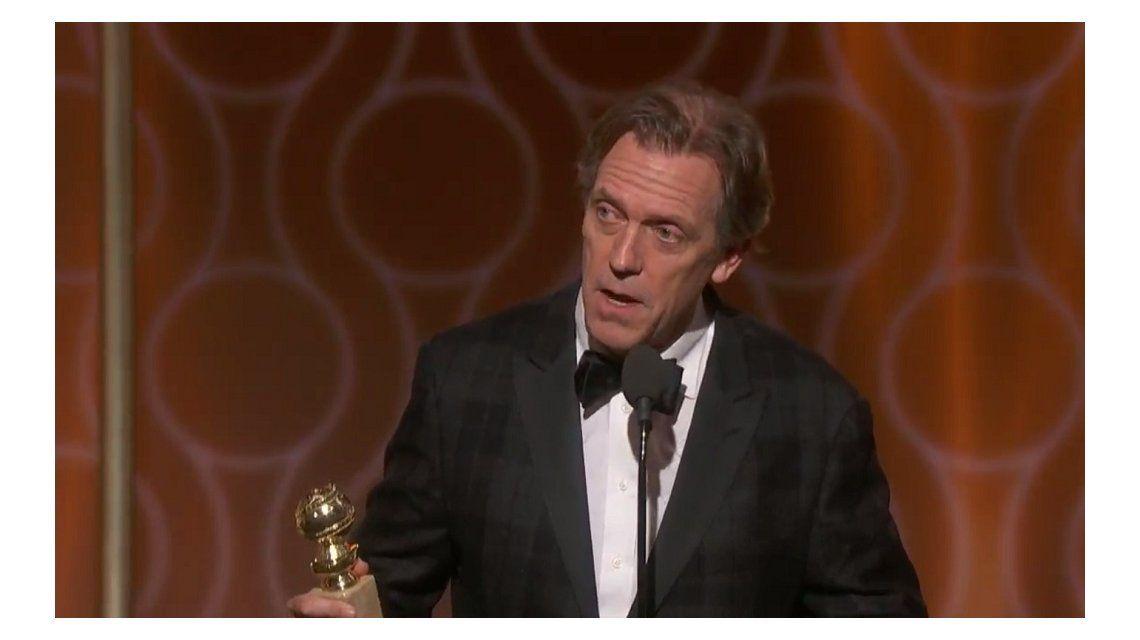 Hugh Laurie en los Globos de oro