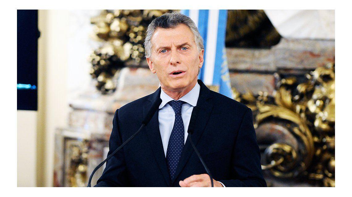 Conferencia de prensa en Casa Rosada