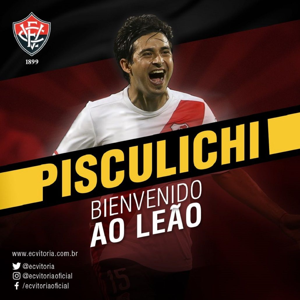Pisculichi jugará en el Vitória Bahía