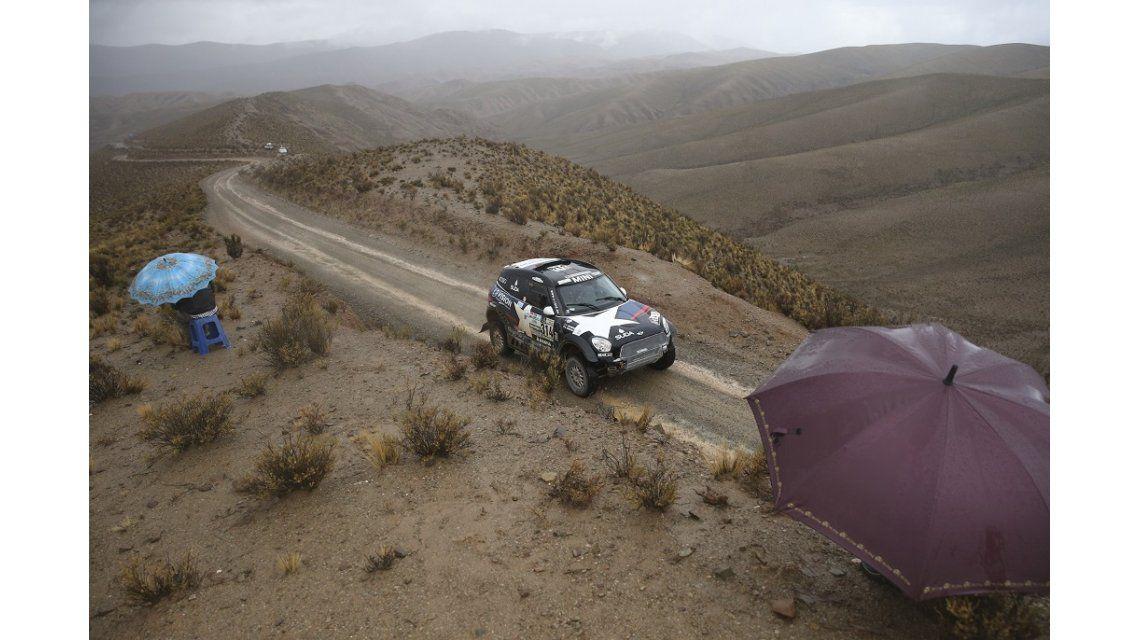 Las luvias interrumpieron la etapa 5 del Dakar
