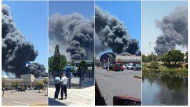 El incendio en Simmons, visto desde diferentes angulos