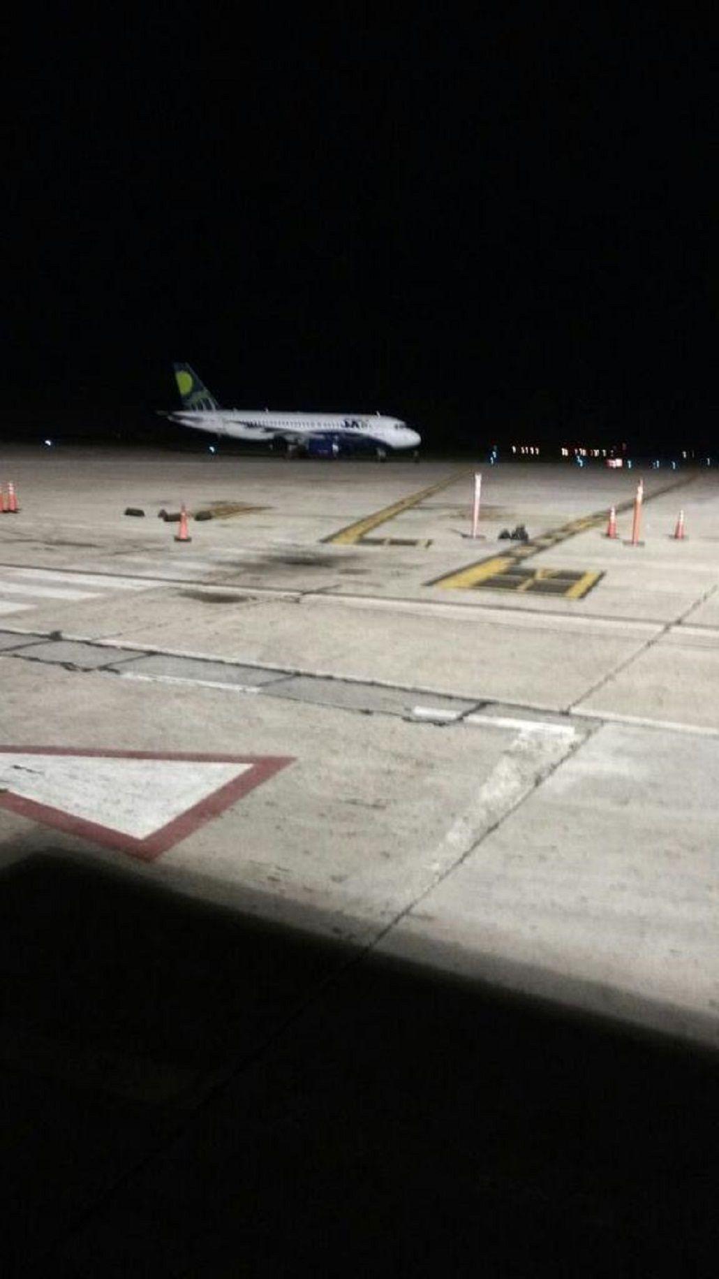 El avión en el que tenían planeado viajar Belgrano