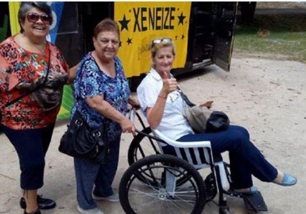La silla de ruedas que donó Boca
