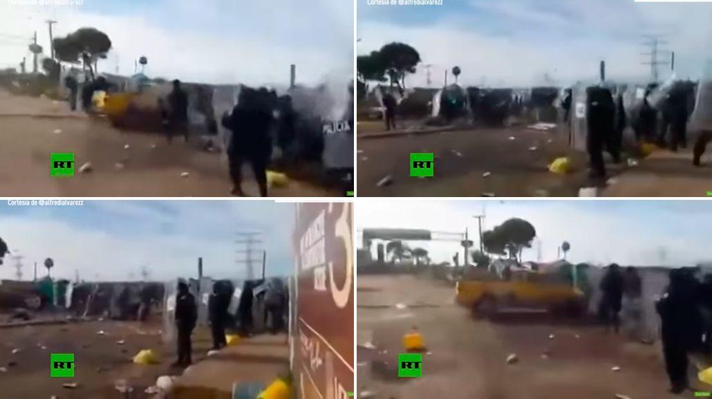 Un conductor arrolló a siete policías en México