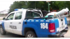 Una ambulancia perdió una camilla en plena ruta de Neuquén