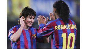 Ronaldinho contó cómo descubrió a Messi en Barcelona