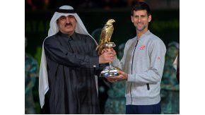 El serbio se quedó con el Abierto de Doha