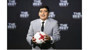 Maradona, durante la gala de los premios The Best