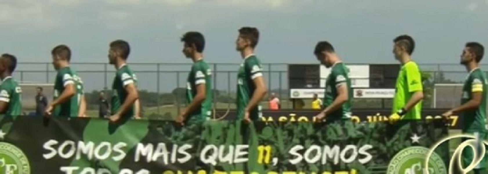 Los jugadores del Chapecoense