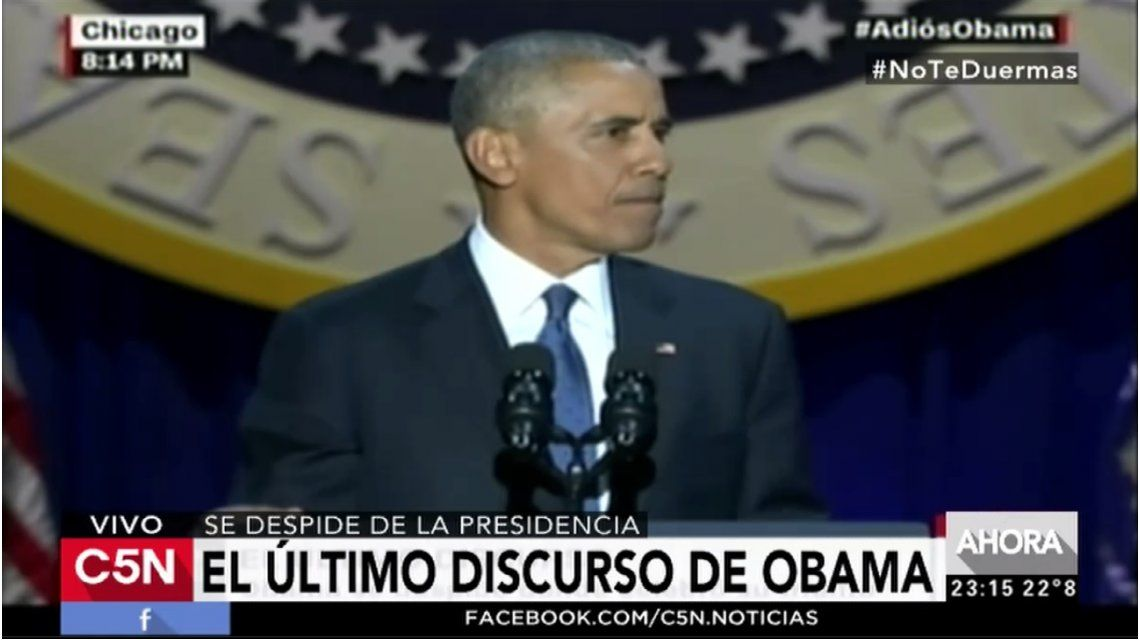 Último discurso de Barack Obama como presidente de Estados Unidos