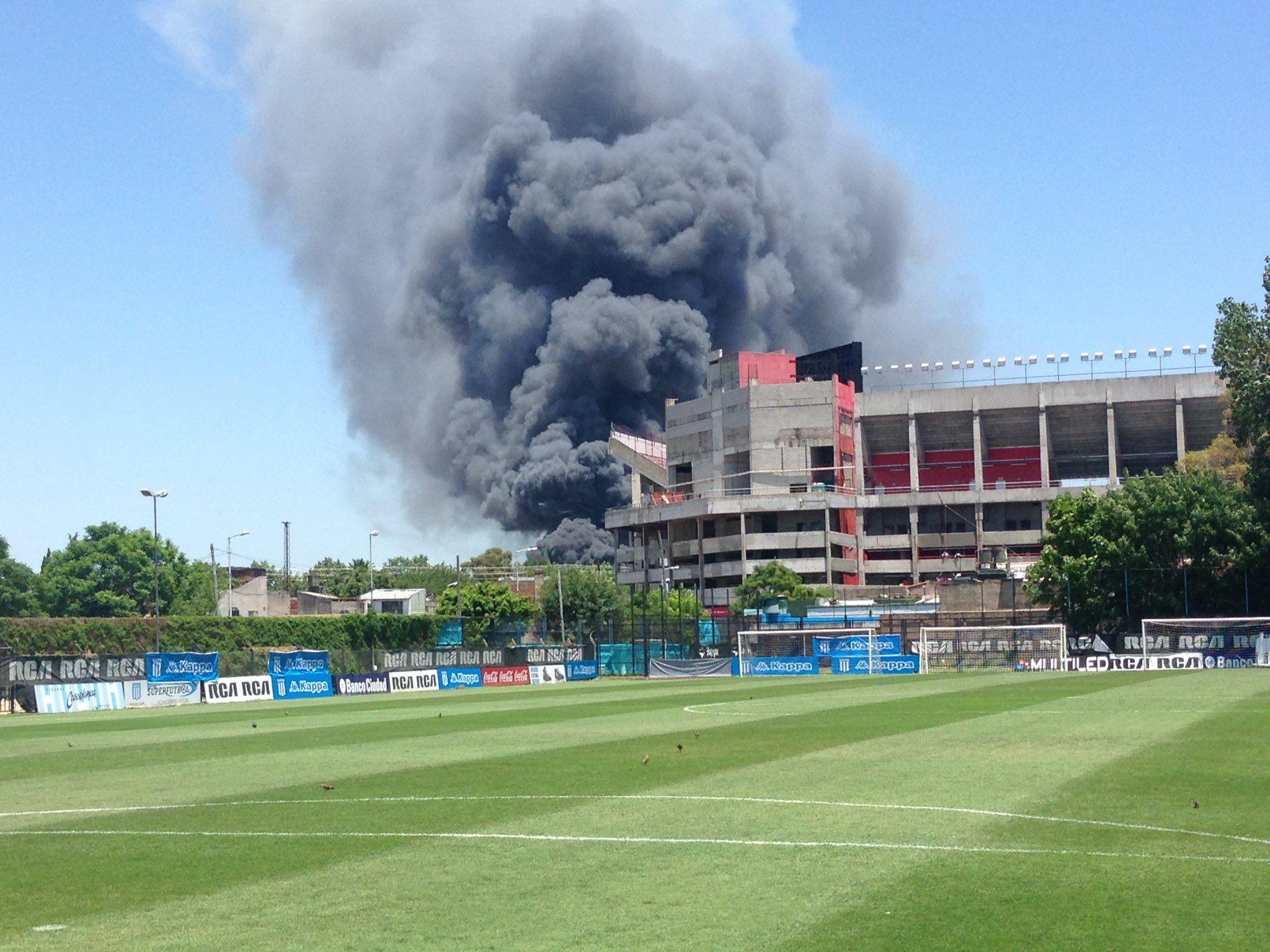 El incendio es de gran magnitud