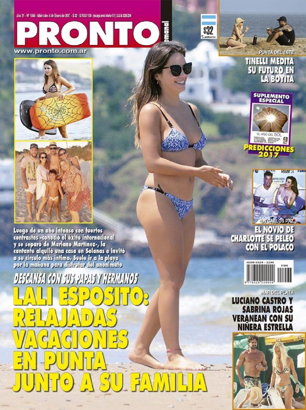 Lali Espósito en la tapa de revista Pronto