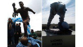 Así quedó la estatua de Lionel Messi en Buenos Aires