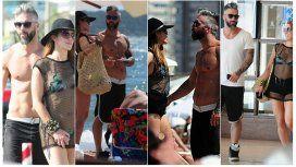 Miriam y su musculoso novio en Punta
