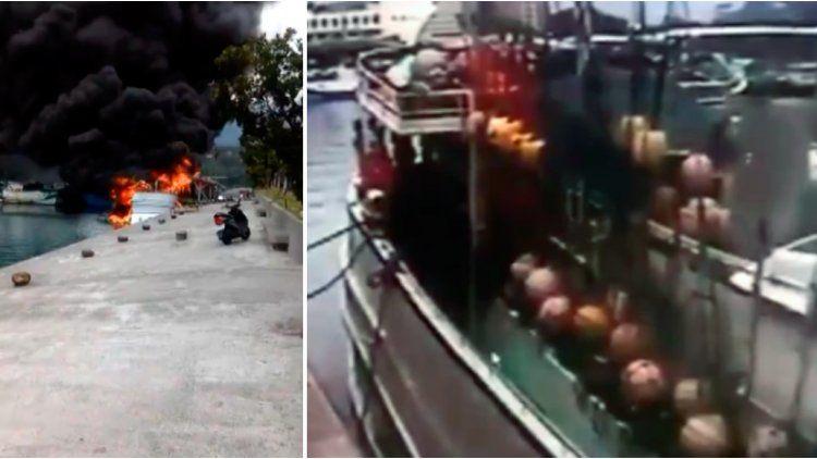 El barco explotó por una pérdida de gas