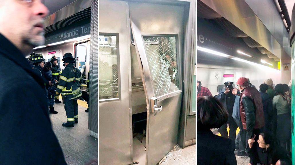 Descarriló un tren en Brooklyn: hay al menos 100 personas heridas