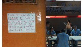 Los trabajadores del subte reclaman medidas de seguridad e higiene