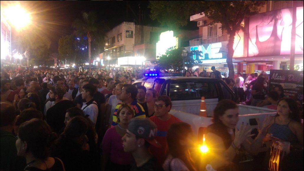 Incidentes en el centro de Carlos Paz
