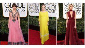 Las celebrities lucieron sus looks en los Globos de Oro 2017