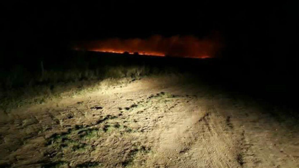 Así se ve el fuego en La Pampa