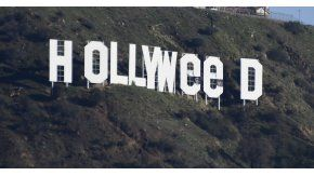 Así amaneció el emblemático cartel de Hollywood
