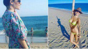 Ivana Figueiras en la misma playa que Pampita
