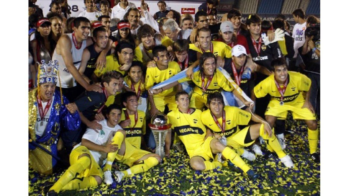 El plantel de Boca campeón en 2008