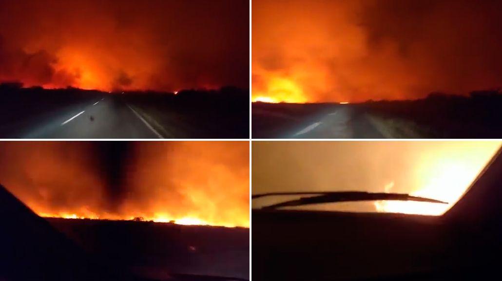 VIDEO: Así se ven por dentro los incendios forestales en La Pampa